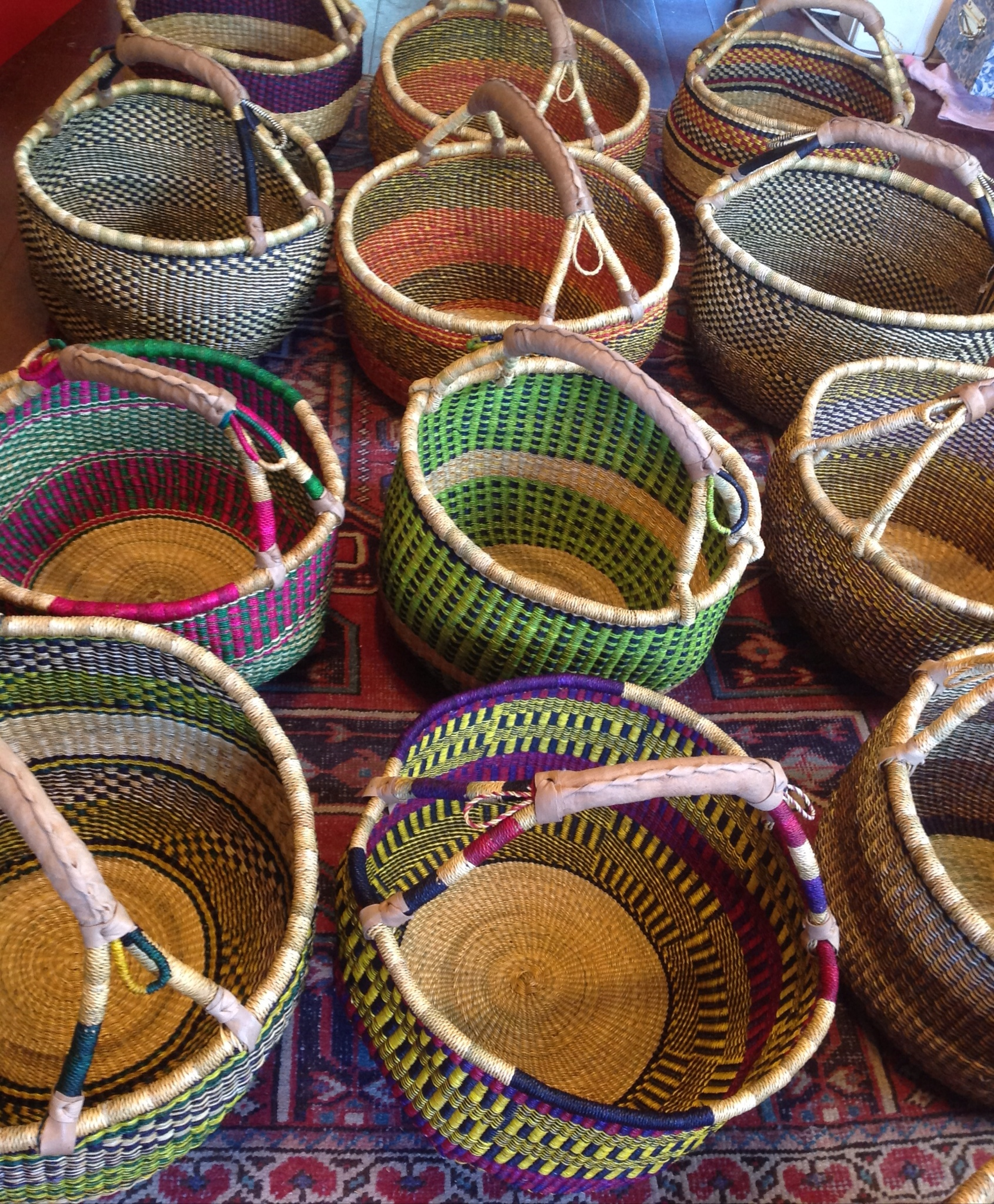 African Baskets: Three Bags Full Yarn Store - Vancouver